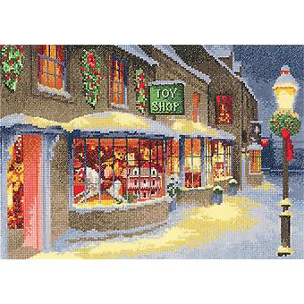 Heritage Crafts Cross Stitch Kit - Christmas Toy Shop (Evenweave)