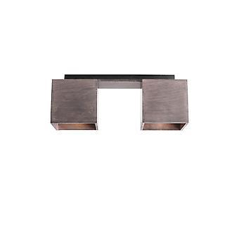 Lampe de plafond Norma Couleur Taupe bois, métal, L36xP12xA14.5 cm
