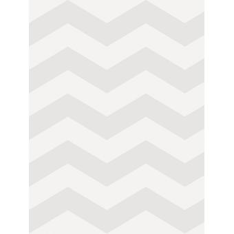Little Ones Eco Zig Zag Chevron Wallpaper Grey GranDeco LO2503