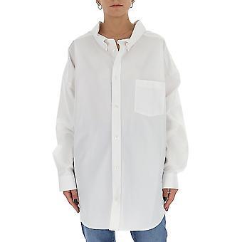 Balenciaga 622050tyb189000 Women's White Cotton Shirt