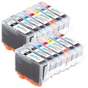 2 Set of 7 Ink Cartridges to replace Canon PGI-5 & CLI-8 Compatible/non-OEM from Go Inks (14 Inks)