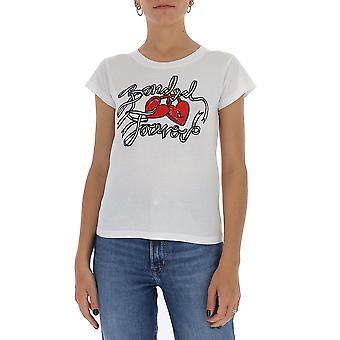 Red Valentino Ur3mg07n5c3001 Women's White Cotton T-shirt