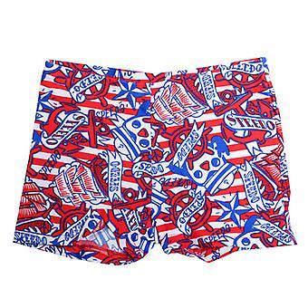 Boy's Speedo Infant Essential Allover Print Aqua Shorts in Red