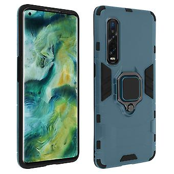 Cover for Oppo Find X2 Pro Multilayer Shock Protector Video Support Ring blue