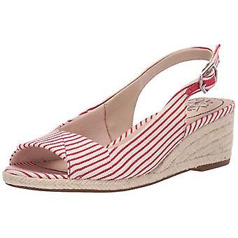 LifeStride Womens Socialite Fabric Peep Toe Casual Slingback Sandals