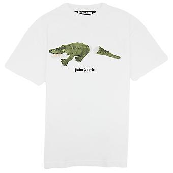 Palm Angels Croco T Shirt Blanc/vert