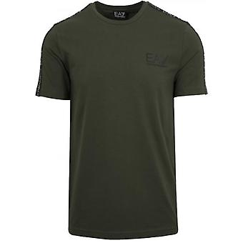 EA7 Forest Green Tape Logo T-Shirt