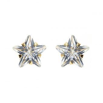 Eternity 9ct Gold Cubic Zirconia Kids Star Stud Boucles d'oreilles