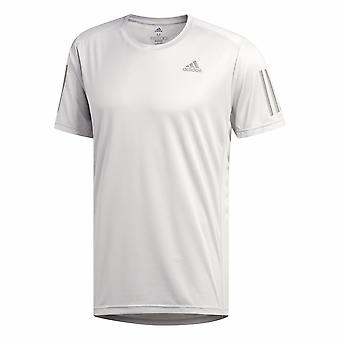 adidas Own The Run Mens Running Fitness Training T-Shirt Tee Grey