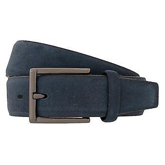 Lloyd Men' s Belts Ceinture homme Ceinture Velours en cuir bleu 4034