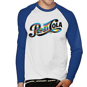Pepsi 1940s Glitch Logo Men's Baseball Long Sleeved T-Shirt