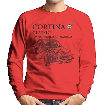 Haynes Owners Workshop Manual 0343 Ford Cortina Classic Black Men's Sweatshirt