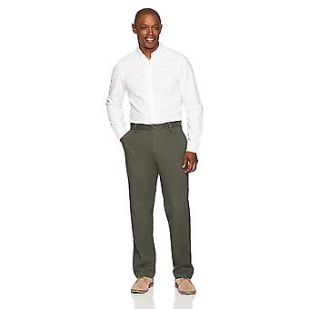Essentials Men's Classic-Fit Rynke-Resistent Flat-Front Chino Pant, ...