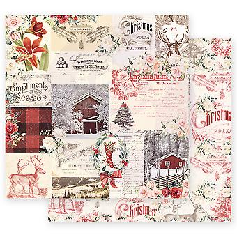 Prima Marketing Christmas In The Country 12x12 Inch Sheets Compliments of the Season