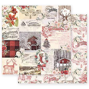 Prima Marketing Noël Dans le pays 12x12 Feuilles pouces Compliments de la saison