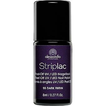 StripLAC Peel Off UV LED Nail Polish - Dark Rubin 8ml (55)