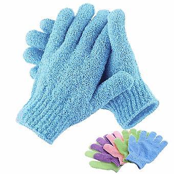Bad für Peeling Peeling Peeling Mitt Handschuh für Dusche Peeling Handschuhe Widerstand Körper Massage Schwamm waschen Haut feuchtigkeitsbefeuchtenden Spa-Schaum
