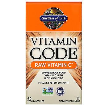 Tuin van het Leven, Vitamine Code, RAW Vitamine C, 60 Vegan Capsules