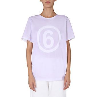 Mm6 Maison Margiela S52gc0166s23588100 Dames's White Cotton T-shirt