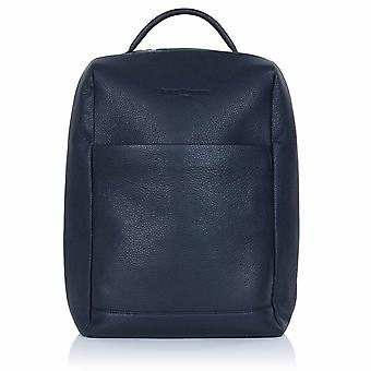 Midnight Blue Richmond Leather Laptop Backpack
