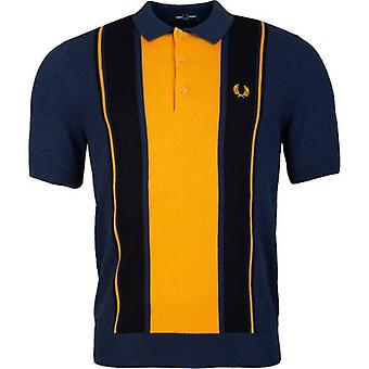 Fred Perry Authentics Striped Knitted Polo Shirt