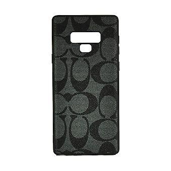 Phone Case Shockproof Cover Monogram GG For Samsung Note 9 (Dark Grey)