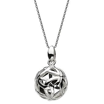 Heritage Sterling Silver Ardena Knot Ball Oxidised Pendant 9331OX024