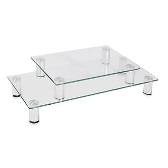 Furinno Barrow 2-Tier Monitor Stand, Clear, FCM1820-03