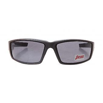 sportzonnebril unisex zwart met grijze lens