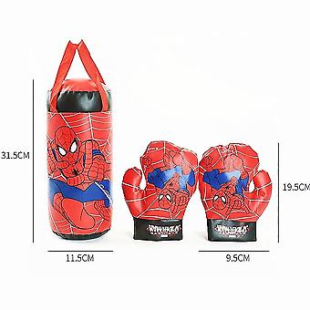 Spiderman Kids Toy Gloves Sandbag Suit Birthday Gifts Boxing Outdoor Sports Toys For Parent-child Interaction (boxing Set)