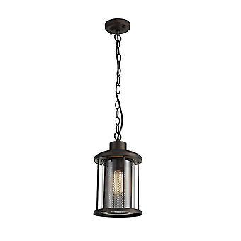 Luminosa Beleuchtung - Deckenanhänger, 1 x E27, antike Bronze, Klarglas, IP54
