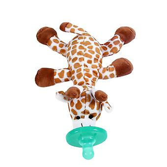 Cute Funny Newborn Baby Food Grade Silicone- Cartoon Animal Pacifier With Soft Plush Toy Bpa Dummy Nipple Teat Soother
