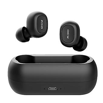 QCY T1C TWS Bluetooth V5.0 Headset Sports Wireless Earphones 3D Stereo Earbuds Black