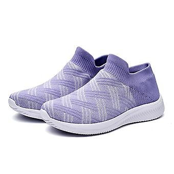 Women Sneakers Slip-On Breathable Comfortable Elastic Casual Shoes