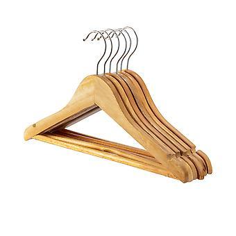 Natural Childrens Wooden Clothes / Coat Hanger / Hangers - Pack of 10