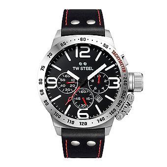 TW الصلب TWCS10 الكلاسيكية مقصف أسود قرص كرونوغراف ساعة اليد
