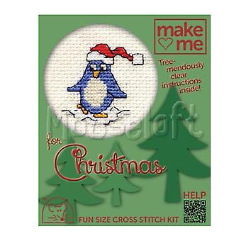 Snowy Penguin - Make Me for Christmas Small Counted Cross Stitch Kit