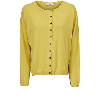 Masai Clothing Lenka Yellow Knit Cardigan