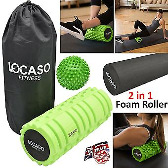 Yoga Pilates and Sports Exercise Hollow Foam Roller High Density With Carry Bag
