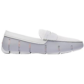 Zwemt Penny Loafers - Legering / Wit