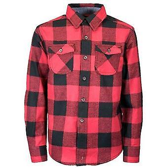 Jungen Langarm Baumwolle Flanell Check Shirt