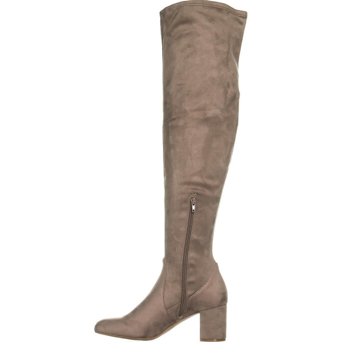 INC International Concepts Womens Rikkie WC Suede Almond Toe Over Knee Fashio...