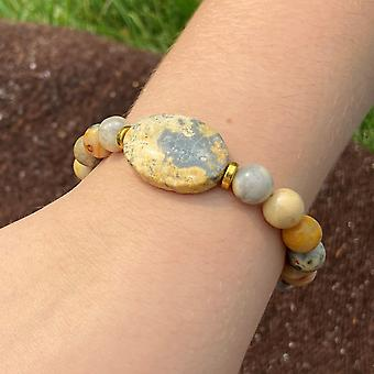 Crazy Lace Agate Focal Armband