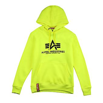 Alpha Industries Men's Hooded Sweater Basic Neon