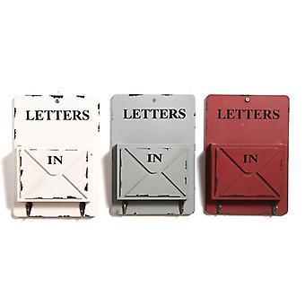 2 Koukun muotoilu seinäkiinnitys kirjelaatikko avaimella