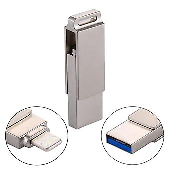 RQW-10 2 in 1 USB 2.0 & 8 Pin 32GB Flash Drive, For iPhone & iPad & iPod & Most Android Smartphones & PC Computer