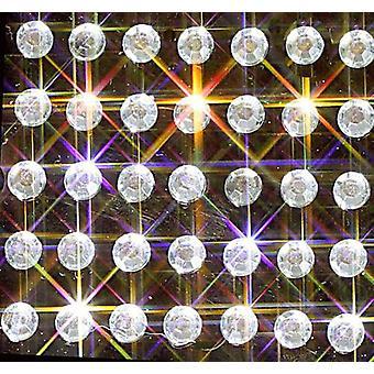 100 cristalli rotondi autoadesivi trasparenti 4mm