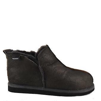 Shepherd of Sweden Annie Sheepskin Slipper Boots Antique Asphalt
