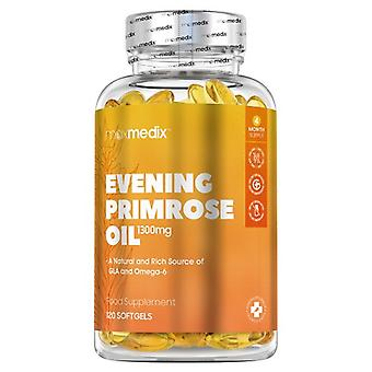 Evening Primrose Oil Softgels - Essential Fatty Acid Softgels For Menopausal Support - 120 Softgels
