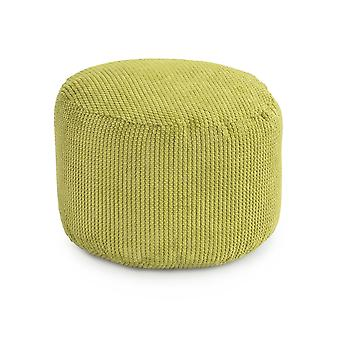Lime Round Bean Bag Foot Rest Stool Pouffe Living Room Beanbag Ottoman Footstools